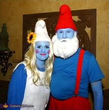 Costume Ideas For Couples Papa Smurf U0026 Smurfette Couples Costume