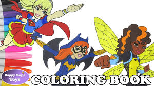 dc super hero girls coloring book pages compilation supergirl