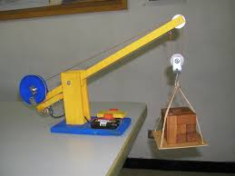 diy toy wooden crane with electric motor and forward reverse