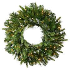 72 pre lit pine wreath clear led lights target