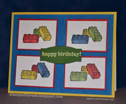 stamp with trude lego birthday card