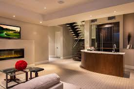 basement color schemes home theater contemporary with arc lamp art