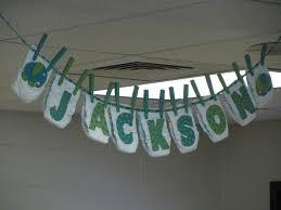 diaper banner made for sweet little jackson u0027s baby shower
