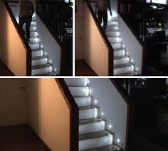 Stair Lighting Diy Led Steps Motion Sensing Staircase Illuminates Itself