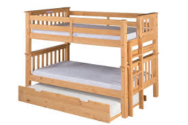 Solid Wood Bunk Beds With Trundle by Camaflexi Santa Fe Mission Twin Bunk Bed With Trundle U0026 Reviews