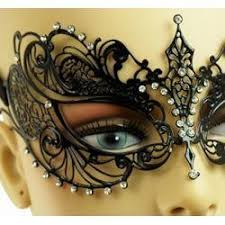laser cut masquerade masks venetian metal black laser cut masquerade mask w rhinestones 7in