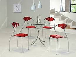 Glass Dining Table Chairs Glass Dining Table With Silver Steel Legs Combined With