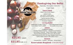 thanksgiving day buffet thursday nov 23 2017 lake george ny