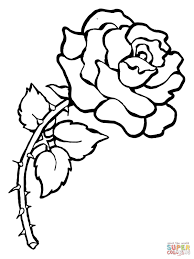 roses coloring page free printable roses coloring pages for kids