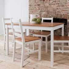 annika dining table with 4 chairs in natural u0026 white noa u0026 nani