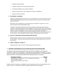 Actuarial Resume Example by Request For Proposals For Actuarial And Consulting Services