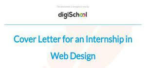 internship in web design cover letter example