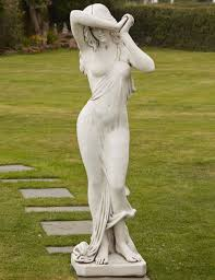 borderstone maiden statue garden ornament gardensite co uk