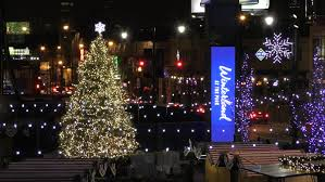 chicago tree lighting 2017 chicago illinois wrigley field plaza winterland in the park at
