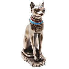 bastet egyptian cat goddess bronze finish statue 9 1 8 inch statue