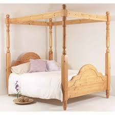 realwoods solid pine bed u0027the classic four poster u0027 double