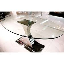 Oval Glass Dining Table Moda Del Mobile Montella Oval Dining Table