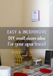 Ideas For Apartment Walls Spusht Chats Frugal Diy Wall Decorating Idea For Apartment