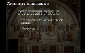 a pology challenge 1 the trial of socrates is in which platonic