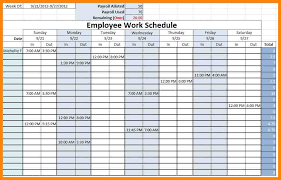 Excel Employee Schedule Template Agenda Template Emails Sle