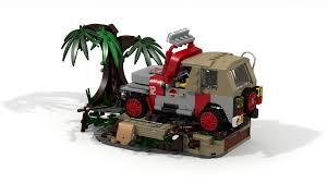 jurassic park car lego lego ideas jurassic park jeep wrangler dennis u0027 demise