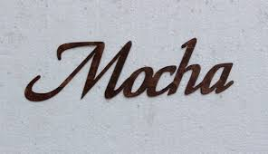 mocha word sign small kitchen home decor metal wall art u2022 11 99