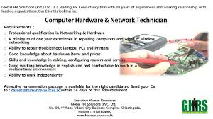 computer technician sample resume job advertisement copier repair sample resume budget technician computer hardware network technician best job site in sri lankacvlk hardware technician jobs