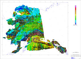 State Of Alaska Map by Composite And Merged Aeromagnetic Data For Alaska A Website For