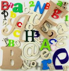 letters individual order page shapes in wooden ply mdf acrylic felt