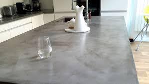 beton ciré cuisine plan de travail en beton cire maison design bahbe com