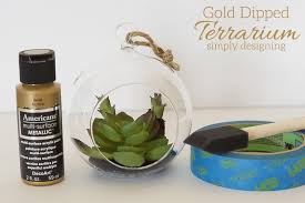 gold dipped gold dipped terrarium