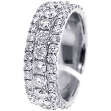 mens white gold diamond wedding bands mens diamond eternity band ring 14k white gold 4 8 ct 8 mm
