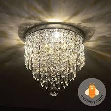 Flush Mount Mini Chandelier Flush Mount Ceiling Light Crystal Ebay