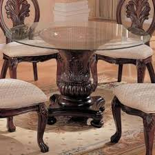 round glass top pedestal dining table amazon com furniture of america quezon round glass top pedestal