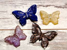 Etsy Vintage Home Decor by Vintage Butterflies Wall Hangings Set Of Four Chalkware Glitter