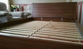 king size wood bed frame ikea frame decorations
