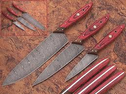 Custom Japanese Kitchen Knives Amazon Com 1046 Custom Made Damascus Steel Kitchen Chef Knife Set