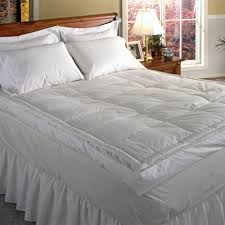 Goose Down Feather Bed Topper Bed U0026 Bedding Feather Bed Topper With Skirted Bed And Wood
