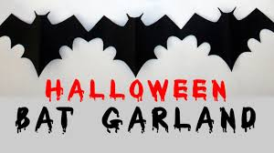 easy cheap u0026 fast diy halloween bat garland youtube