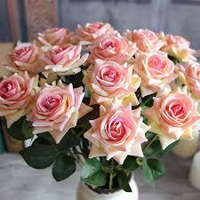 Fake Flower Arrangements Aliexpress Com Buy Red Valentine U0027s Mini Velvet Rose Artificial
