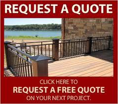 aluminum deck railing mmc fencing u0026 railing