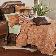 Sunset Comforter Set Burnt Orange Comforter Intelligent Design Minnet 3piece