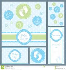 baby shower card set stock photo image 35474710