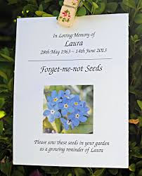 forget me not seed packets choosing a centred funeral veronika robinson