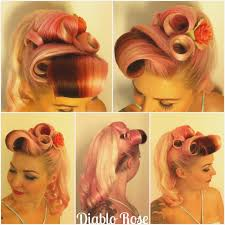 barrel curl ponytaol victory rolls with pony tail diablo rose barrel rolls victory