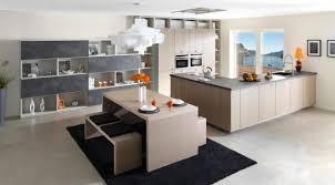 cuisine bois gris clair meuble mural en bois é gris clair table à manger noir lisse