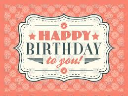 pink retro happy birthday card vector clipart image 67725 u2013 rfclipart