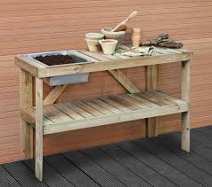 Free Wooden Potting Bench Plans by Bench
