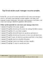 Asset Management Resume Sample by Asset Manager Cover Letter