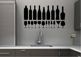 Wall Stickers For Kitchen by Wine Glasses Kitchen Wall Stickers Adhesive Wall Sticker